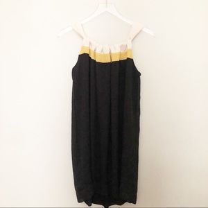 Brooklyn Industries High Neck Black Yellow Dress